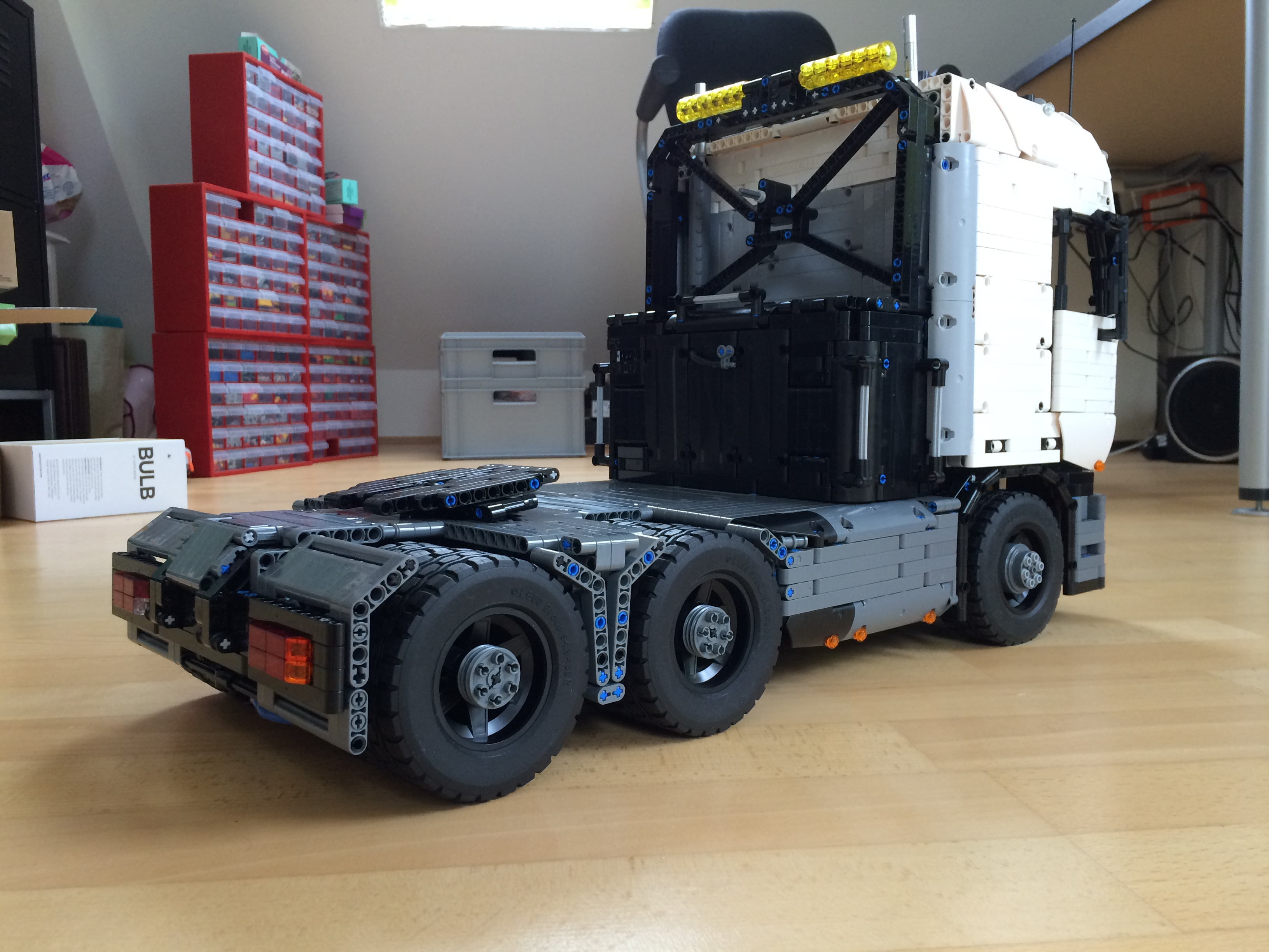 Lego Moc Tractor Truck By Lucioswitch81 Rebrickable Build With Lego